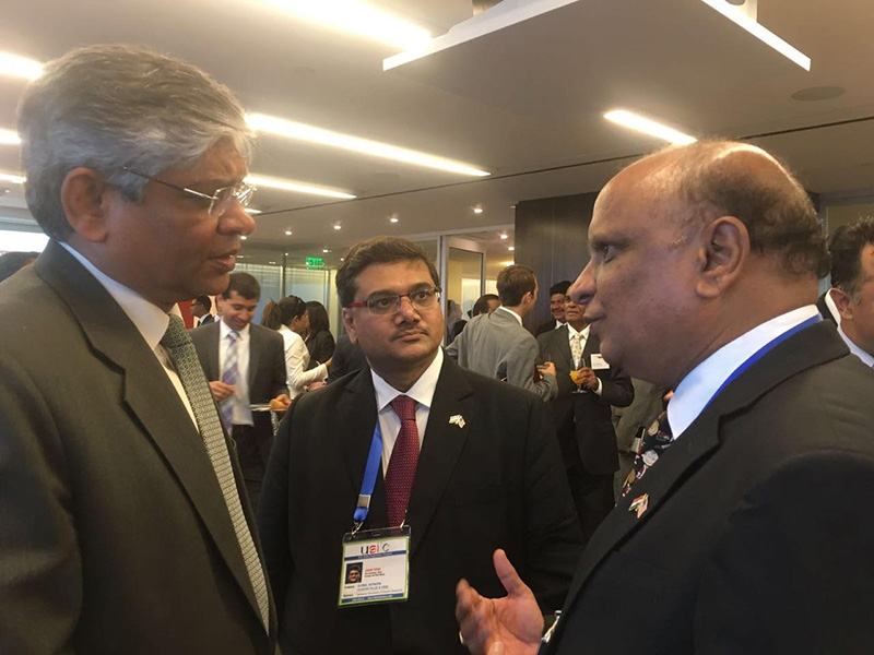 With Former Ambassador of New York to USA- Mr. Arun Kumar Singh