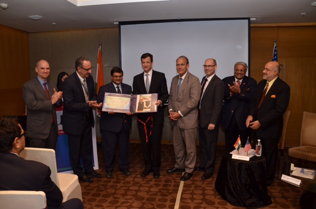 Mentor on Road - USA coffee table book inaugurated by Mr. Thomas Vajda, Consul General of USA in India.