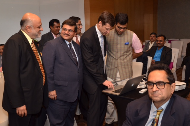 Mr. Thomas Vajda, Consul General of USA in India launching the Mentor on Road Website.
