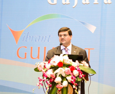 Jagat Shah at Vibrant Gujarat