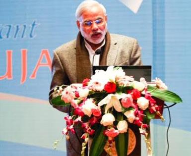 Hon. Prime Minister, Mr. Narendra Modi at Vibrant Gujarat